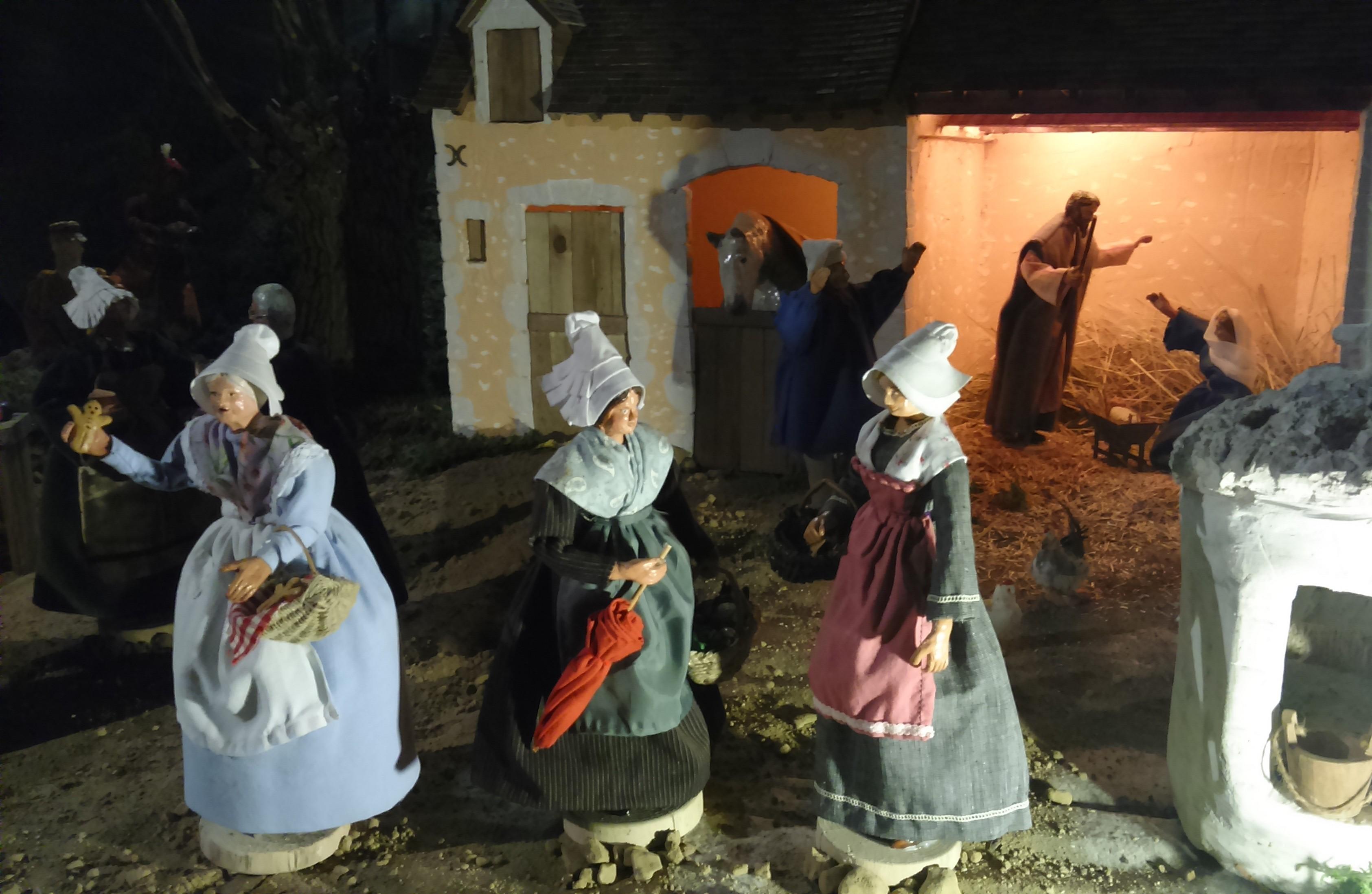 Crèche de Noël percheronne